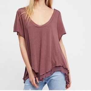 "Free People  ""Cookie"" top in plum"